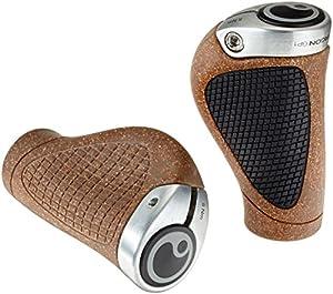 Ergon GP1 BioKork Gripshift Bicycle Handlebar Grip, Small