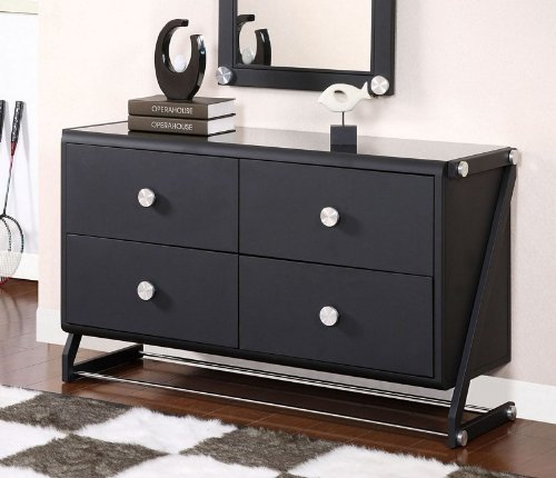 Cheap Kids Drawer Dresser with Sheen Top in Textured Black Finish (AZ00-46882×19080)