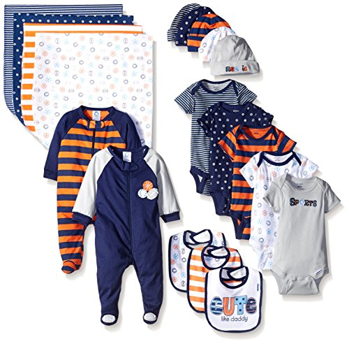 Gerber Boys' Baby 19 Piece Essentials Gift Set, Sport, Newborn