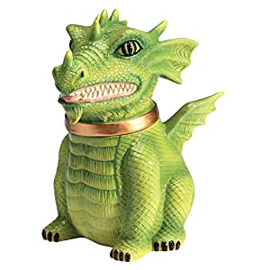 Dragon Cookie Jar Ceramic Cute Kitchen Accessory