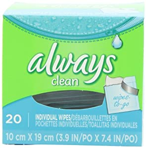 Always Lightly Scented Wipes-To-Go 20 Count (Pack of 4)