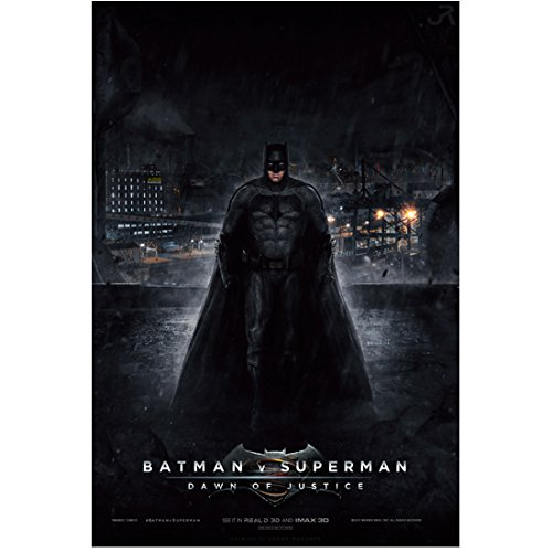 Batman v Superman Dawn of Justice Ben Affleck as Batman Bruce Wayne Suited Up 11 x 17 Poster Litho