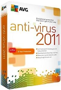 AVG Antivirus, 2 User 2011, 2 Year Subscription (PC)