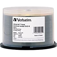DVD-R UltraLife Gold Archival Grade 4.7GB Recordable Disc Spindle Pack Of 50 And Free 6 Feet Netcna HDMI Cable...
