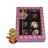 Chocholik Belgium Chocolate Gifts - Golden Treasure Of Belgian Chocolates With Ganesha Idol - Diwali Gifts