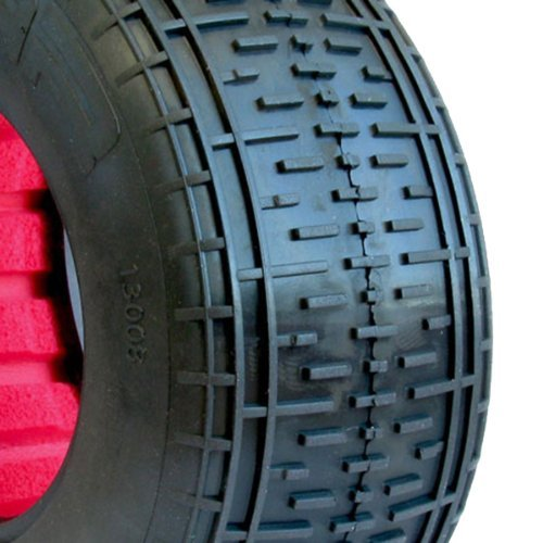 Aka Products 13008Cre Racing Rebar Sc Clay Pre-Mounted Red Inserts Losi Scte Tire, Scale 1:10 Toy, Kids, Play, Children