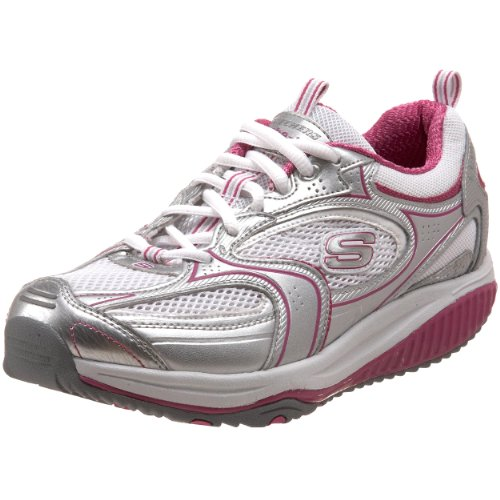 Skechers Women's 12320 Shape-ups Xf Accelerators, Women's Trainers - Silver/Pink, 36 EU