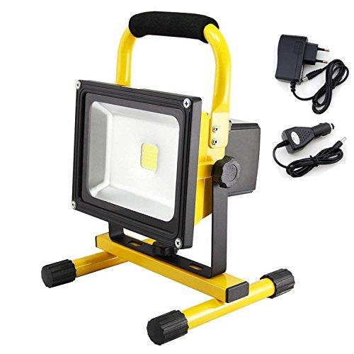 SZYSD-LED-20W-Akku-Baustrahler-Fluter-Wiederaufladbar-Strahler-Arbeitsleuchte-IP65-Handlampen-Flutlicht-Warmwei