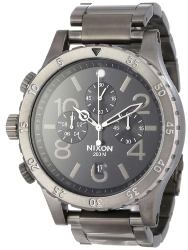 Nixon Men's 48-20 Chrono Watch One Size Gunmetal