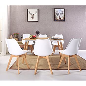 Set of 4 Modern Accent Side Dining Chair Kitchen Chairs Upholstered Lounge Chair with Soft Padded Seat Body Engineering Design for Reception Room Bedroom,White