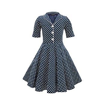 BlackButterfly Kids 'Sabrina' Vintage Polka Dot 50's Dress