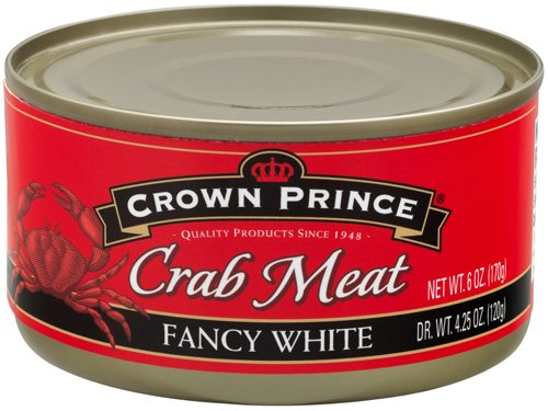 Crown Prince Fancy White Crab Meat, 6-Ounce Cans (Pack of 12) (Can Crab Meat compare prices)