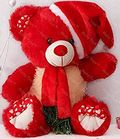 Buy Richy Toys Teddy Bear animal 38CM (Red) Online at Low Prices ...