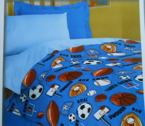 Boys Sports Bedding: Kids Sports Twin Comforter Bedding ...