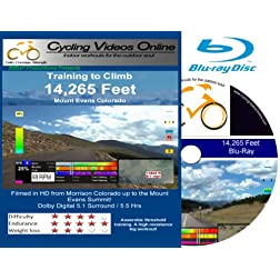 Training to Climb! 14,285 Feet Mt Evans Colorado. (Blu-Ray) Virtual Indoor Cycling Training / Spinning Fitness and Workout Videos