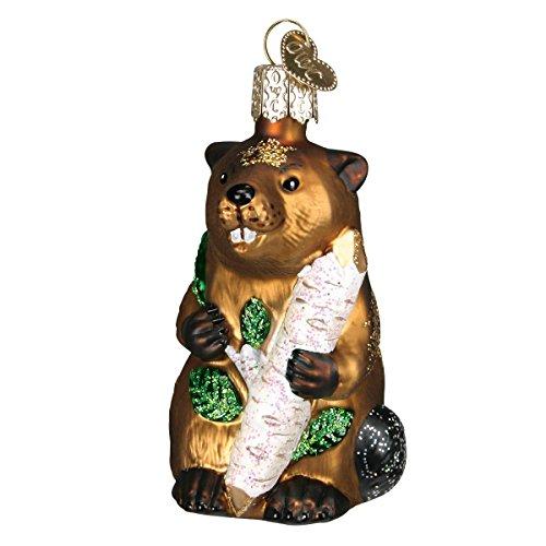 Eager Beaver Glass Blown Ornament