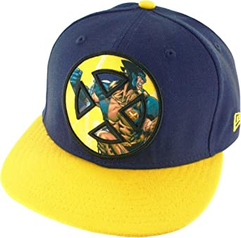 X-Men Wolverine Sublimated Action Logo Men's 59FIFTY Flex-Fit Baseball Cap, Medium (7 1/4)