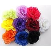 自由自在 ミックス バラ の 造花 パーティー 飾り付け コサージュ プレゼント 包装 8cm 10色 各5個flomix101