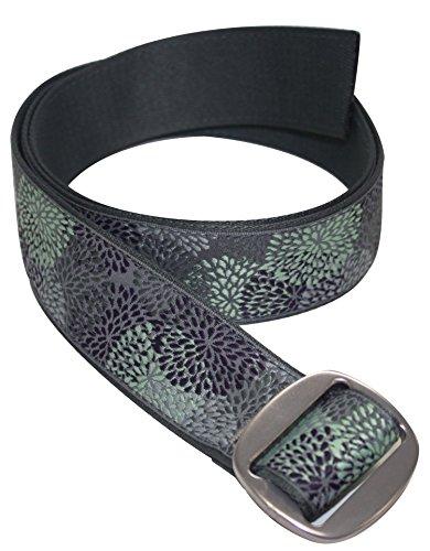 Bison Designs Women's Reversible to Solid Color Subtle Clinch Belt, Pistachio, Small/34