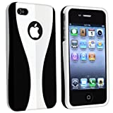 Snap-on Rubber Coated Case for Apple® iPhone® 4 AT&T / Verizon, White / Black