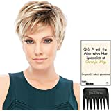 Bundle - 3 Items: Allure PETITE CAP Wig by Jon Renau, Christy's Wigs Q & A booklet, and Jon Renau Wide Tooth Comb