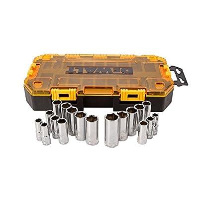DEWALT DWMT73806 Tough Box Tool Kit 3/8'' Drive Socket Set, 17 Piece