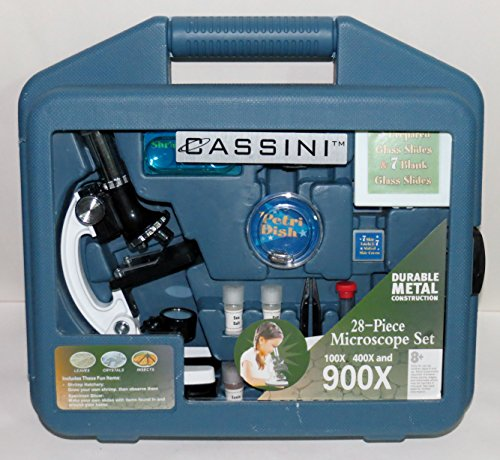 Cassini 28-Piece, 900X Microscope Kit (New Open Box)