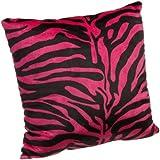 Brentwood Originals 18-Inch Zebra Fur Pillow, Hot Pink