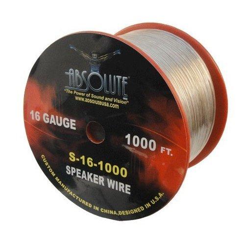 Absolute S161000 16-Gauge Spool Speaker Wire (1000 Feet)