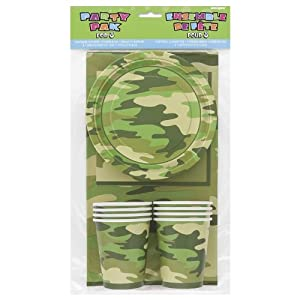 Camo Party Pack For 8 by Fun To Collect