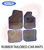 PEUGEOT 208 (12+) 2 X CLIP) TAILORED RUBBER CAR MATS BLUE TRIM