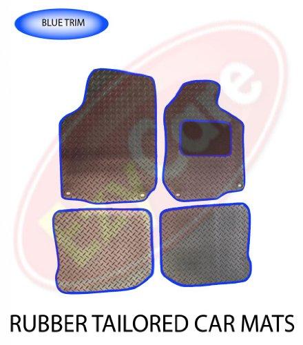 PEUGEOT 208 (12+) 2 X CLIP) TAILORED RUBBER CAR MATS BLUE TRIM