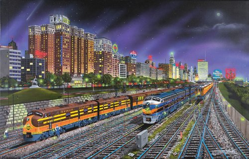 Chicago Nights a 1000-Piece Jigsaw Puzzle by Sunsout Inc. (Chicago Puzzle 1000 compare prices)