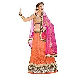 Aagaman Fashions Net Lehenga Choli (TSN67008_Orange)
