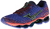 Mizuno Mens Wave Prophecy 3 Running Shoe,Dazzling Blue/Dress Blue/Tangerine Tango,10.5 M US