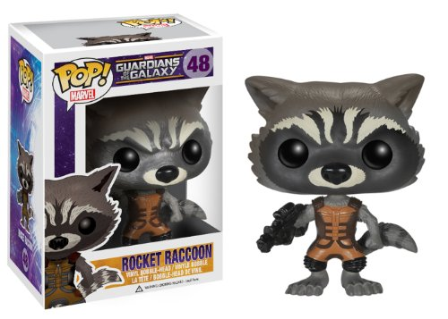 Funko POP Marvel: Guardians of The Galaxy - Rocket Raccoon Vinyl Bobble-Head Figure - 1