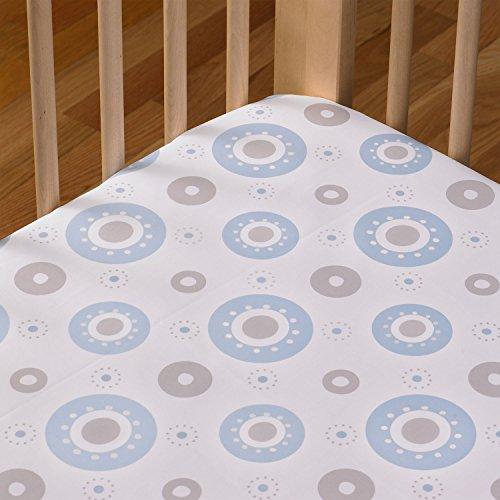 Living Textiles Cotton Poplin Fitted Sheet, Orbit