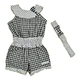 Calvin Klein Newborn Girls Checks-Polka Dot Romper With Headband