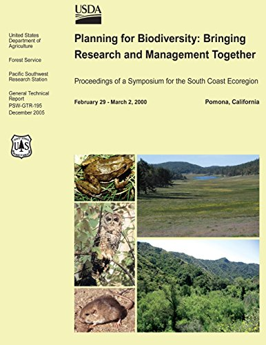 Planning for Biodiversity: Bringing Research and Management Together