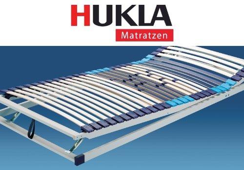 Hukla Trioplus Zon verstellbarer Komfort-Lattenrost mit Härtegradregulierung, Größen Matratzen:100 x 190 cm