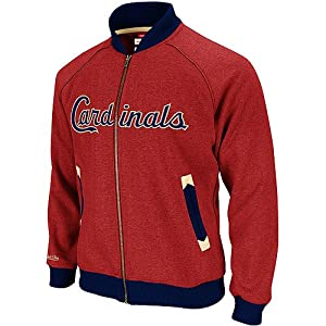 MLB St Louis Cardinals Intrasquad Track Jacket Mitchell Ness Cooperstown Men 2XL by Mitchell & Ness