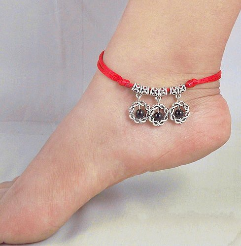 Tibetan Silver Sterling Silver Bangle Anklet Chain Bracelet Jewellery Quality Style NO.3014