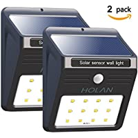 2-Pack Mulcolor HL002 12 LED Wireless Rainproof Security Solar Sensor Wall Light