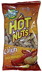 Hampton Farms Cajun Hot Nuts, Spicy Roasted in the Shell - 10 oz