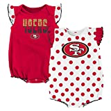 NFL San Francisco 49ers Creeper Set, 3-6 Months, Crimson