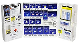First Aid Only 1000-FAE-0103 Large Smart Compliance General Workplace First Aid Cabinet with Pain Relief Medication