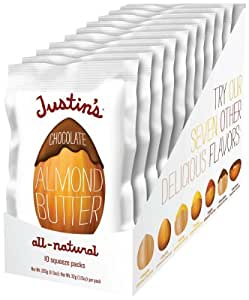 Justin's Nut Butter Natural Chocolate Almond Butter, 1.15 Ounce Squeeze Pack (Pack of 60)