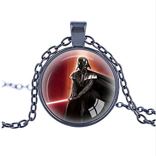 Pianeta Wars Jedi Logo Simbolo Collana ciondolo in vetro foto Planet Wars Collana emblema Impero Galattico D