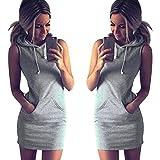 GBSELL-Fashion-Womens-Summer-Casual-Sleeveless-Hoody-Dress