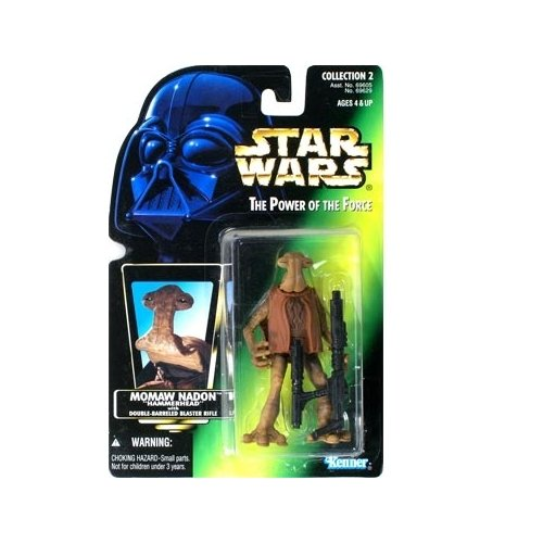 Star Wars: Power of the Force Green Card Momaw Nadon (Hammerhead) Action Figure